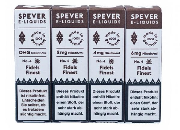 Spever E-Liquid No.4 - Fidels Finest